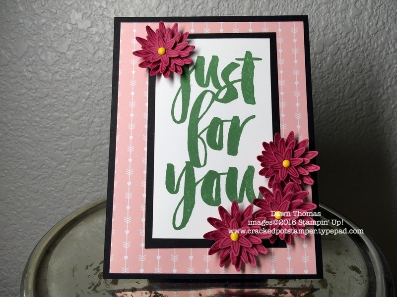 Botanicals For You from Sale-A-Bration partnered with Grateful Bunch+Blossom Bunch Punch Bundle. Dawn Thomas, Cracked Pot Stamper