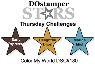 DSC#180 DOStamperSTARS Thursday Color My World Challenge, #crackedpotstamper, #stampinup
