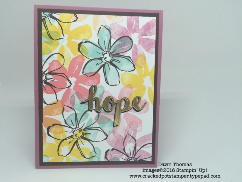 DOstamperSTARS Thursday Challenge #189-Home Sweet Home created by Dawn Thomas #crackedpotstamper #stampinup