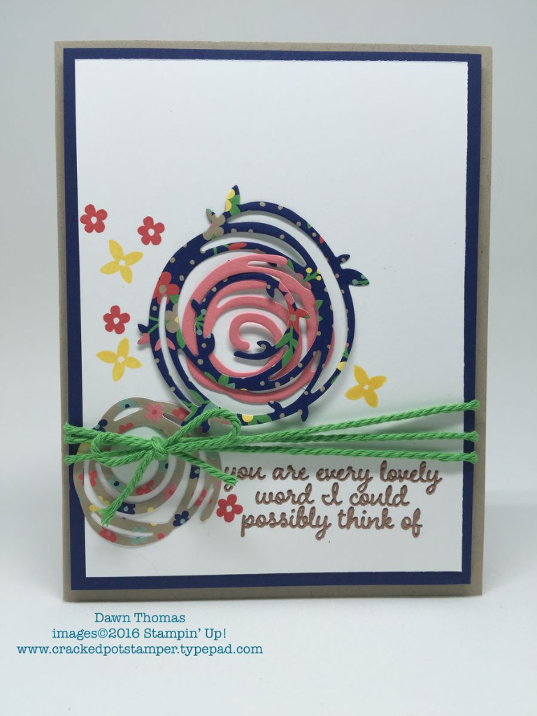 DSC#181, Thursday Sketch Pad Challenge, card created by Dawn Thomas, Cracked Pot Stamper, #CrackedPotStamper, #stampinup
